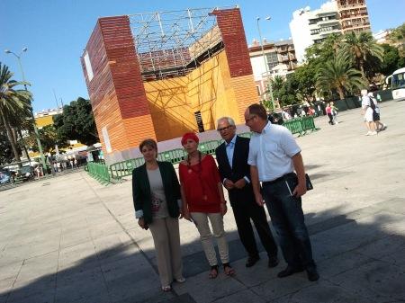 De izquierda a derecha: Carmen Guerra, García Bolta, Pablo Barbero, Miguel Ramírez /. Foto HomoCultum