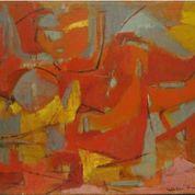 Esteban VICENTE (E-658) Abstract Female C. 1955-58 73,6 x 96,5 cm 29 x 38 in Óleo sobre lienzo CORTESÍA: GALERíA ELVIRA GONZÁLEZ