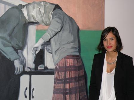 Cristina Toledo, autora de la obra ganadora, Bag-It / Foto: Homocultum