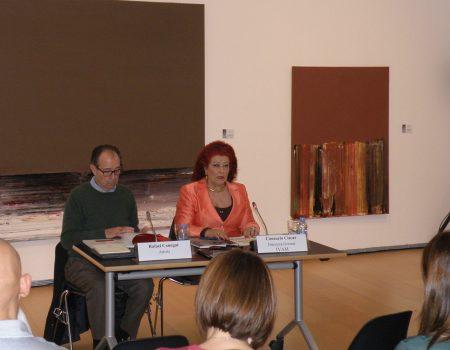 Rafael Canogar y Consuelo Císcar en la presentación de la muestra / Foto: Homocultum