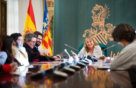 El jurado del I Premio Valencia de Novel Negra / Foto: Diputación de Valencia