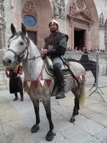 Jinete que encarna al Cid en el fin de semana cidiano de Burgos de 2013 / Foto: Consorcio Camino del Cid