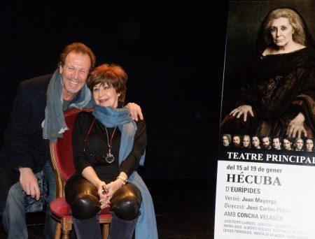 Concha Velasco y Juan Gea, Hécuba y Agamenón / Foto: Homocultum