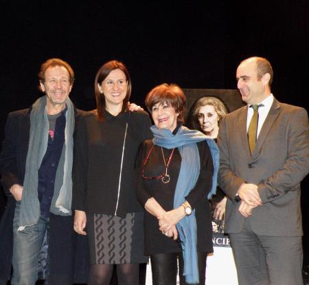 (Izq.) Juan Gea, Mª José Català, Concha Velasco y Manuel Tomás / Foto: Homocultum