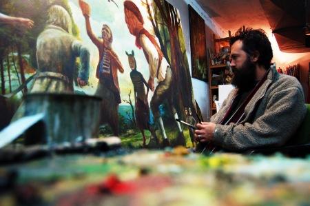 Serzo en su taller diciembre 2013 / Foto: J.L. Serzo