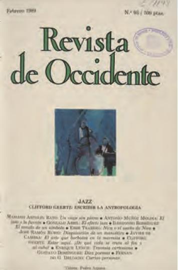 Revista de Occidente, febrero de 19389 / Foto: Biblioteca Nacional de España