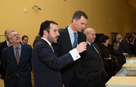 Antonio López Vega, D. Felipe de Borbón e Ignacio Wert / Foto: BNE