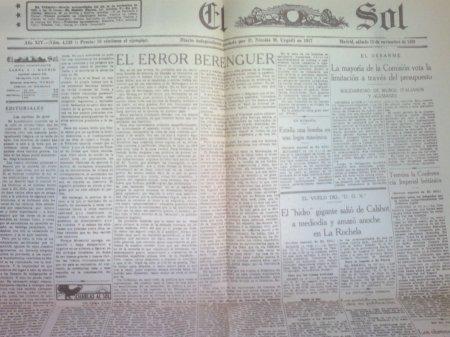 El Sol, 15 de noviembre de 1930