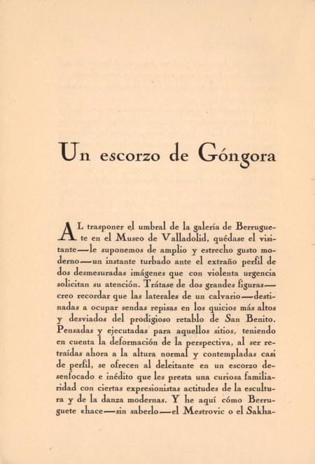 Artículo de Gerardo Diego, número de enero de 1924 / Foto: Biblioteca Nacional de España