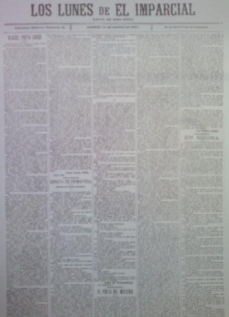 Los Lunes de El Imparcial, 14 de marzo de 1904